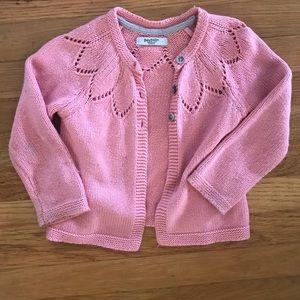 Mini Boden coral pink cardigan GUC